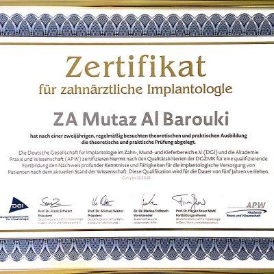 Zertifikat Implantologie.1