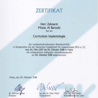 implantologie Zertifikat
